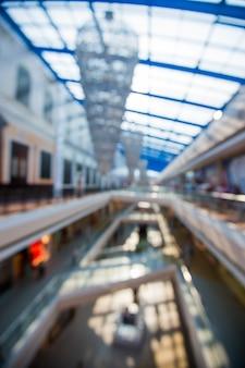 Resumen desenfoque de fondo del centro comercial