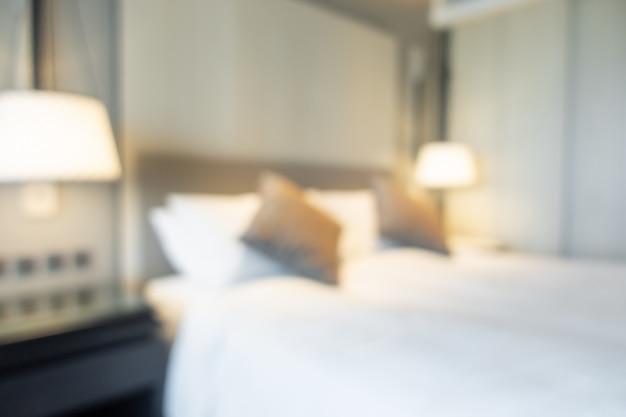 Resumen desenfoque interior del dormitorio para el fondo