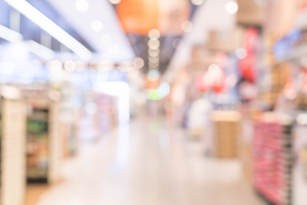 Resumen desenfoque en el supermercado