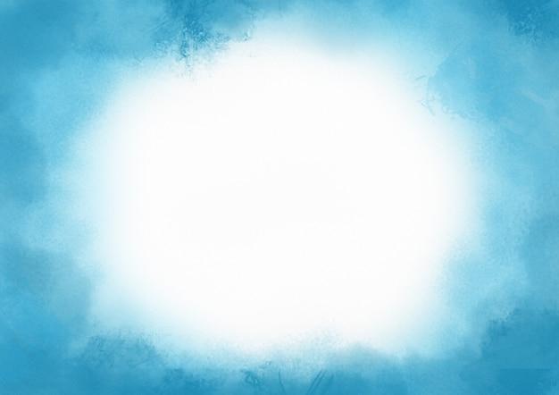 Resumen se desvanecen acuarela azul nubes pintura salpica fondo de tinta sobre papel blanco con espacio de copia