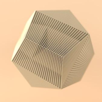 Resumen estructura web de esferas y líneas doradas