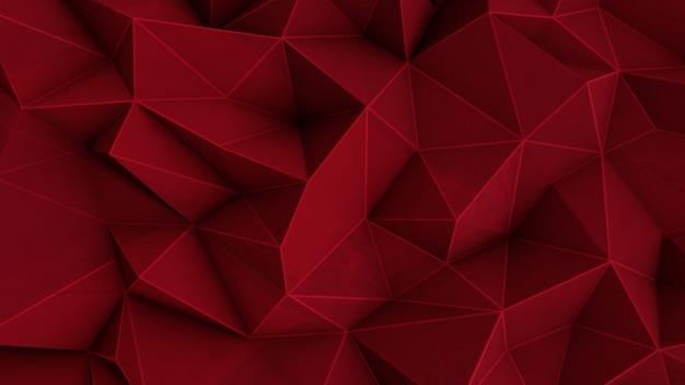 Resumen fondo rojo poligonal