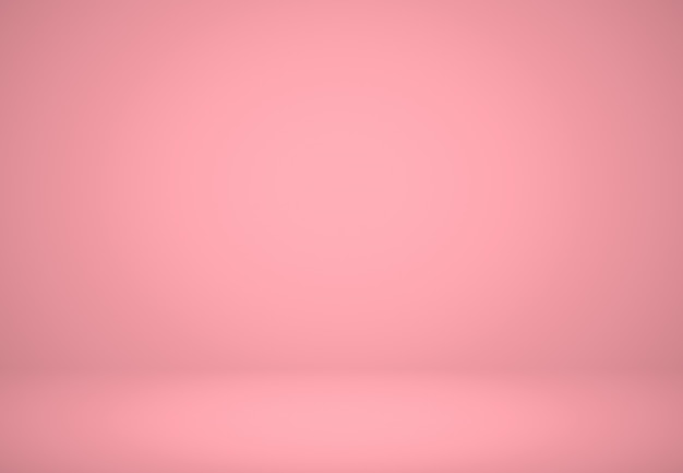 Resumen fondo rojo rosado diseño de diseño de navidad y san valentín, estudio, sala, plantilla web, informe comercial con degradado de círculo suave