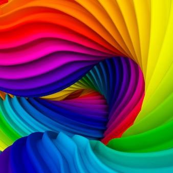 Resumen forma de arco iris pastel. representación 3d