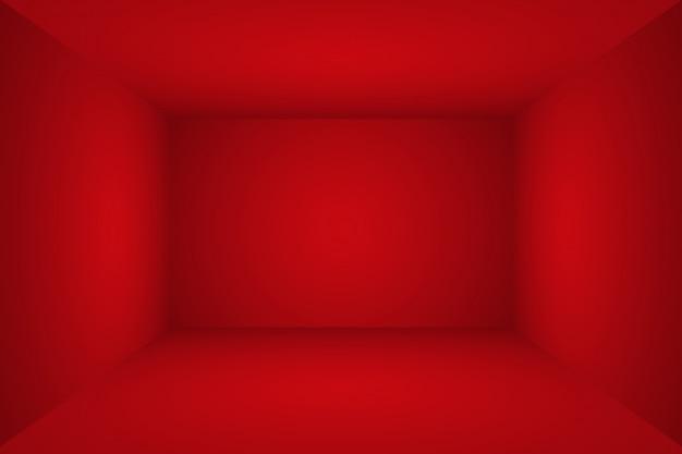 Resumen de lujo suave fondo rojo diseño de diseño de san valentín de navidad, estudio, sala, plantilla web, informe comercial con degradado de círculo suave color. 3d