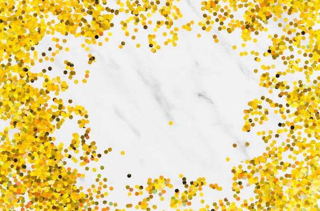 Resumen marco dorado brillo con espacio de copia
