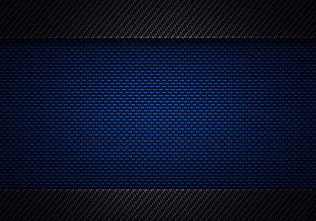 Resumen moderno azul negro de fibra de carbono con textura material de diseño