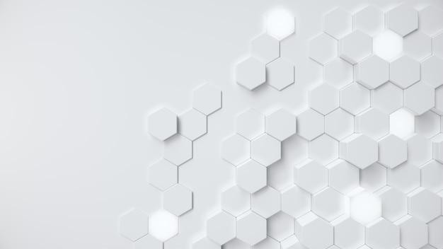 Resumen de panal hexagonal geométrico blanco