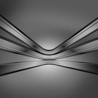 Resumen render 3d fondo gris oscuro
