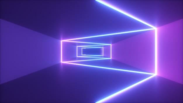 Resumen volando en el fondo del corredor futurista