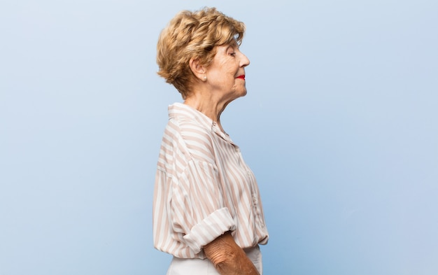 Retrato de anciana hermosa