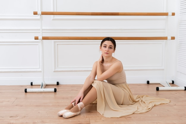 Retrato de bailarina de ballet elegante