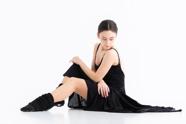 Retrato de bailarina profesional posando
