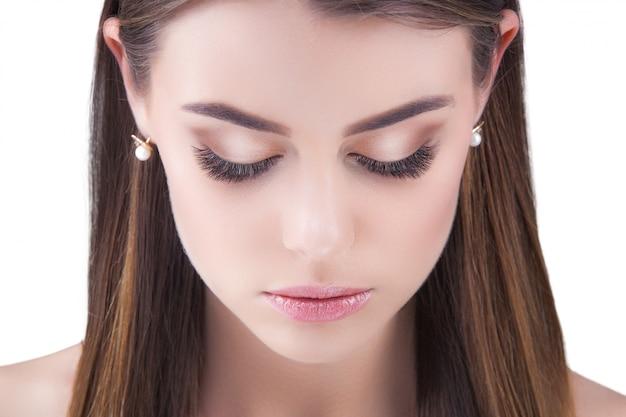 Retrato de belleza joven rubia hermosa
