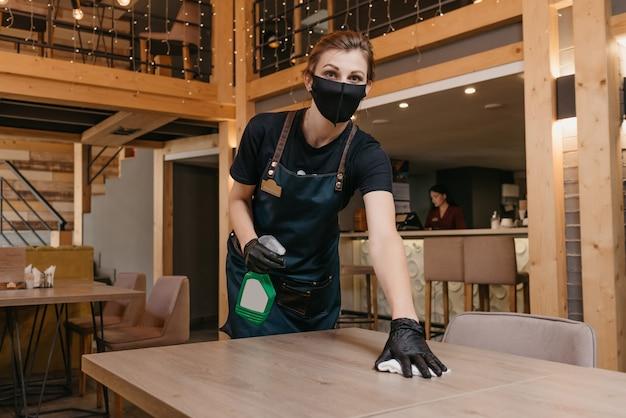 Retrato, camarera, limpieza