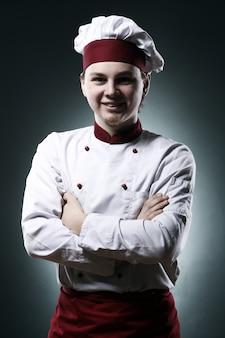 Retrato de chef sonriente