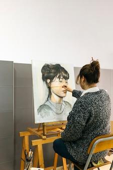 Retrato de dibujo del artista