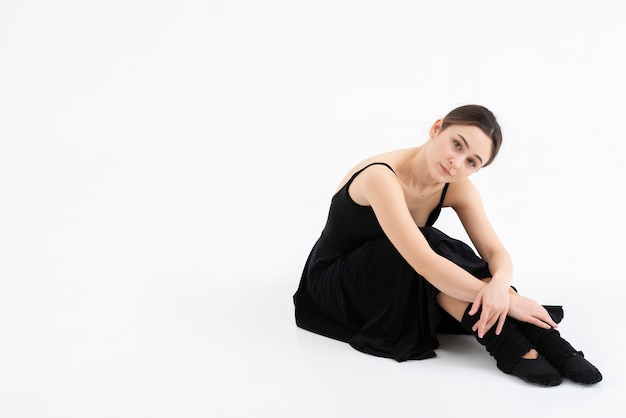 Retrato de elegante bailarina profesional