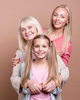 Retrato de generación de mujeres hermosas