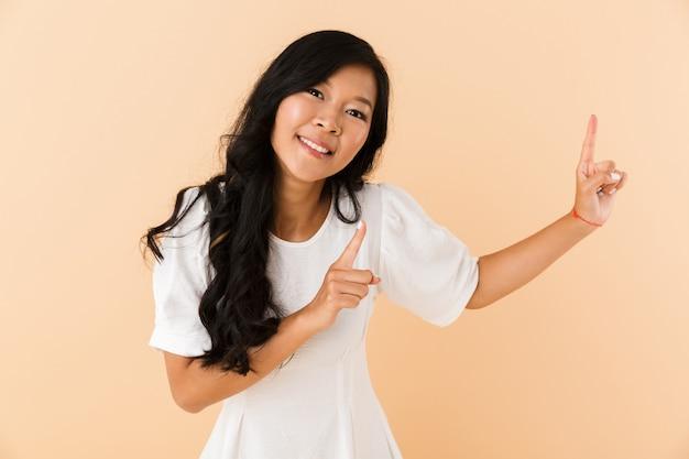 Retrato de una hermosa joven asiática