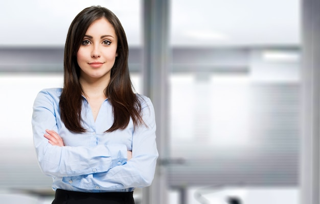 Retrato de hermosa mujer de negocios