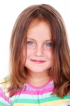 Retrato hermoso de la muchacha linda