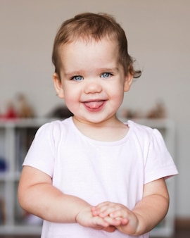 Retrato, de, hermoso, nene, concepto