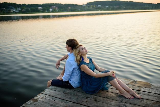 Retrato, de, hombre y mujer, enamorado