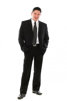 Retrato de hombre de negocios de mediana edad