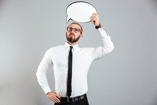 Retrato de un hombre de negocios serio