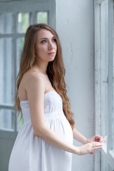Retrato de la joven embarazada