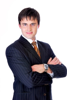 Retrato de un joven empresario lindo.