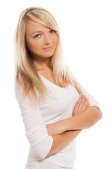 Retrato de joven mujer atractiva