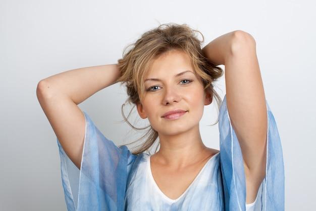 Retrato de una mujer joven.