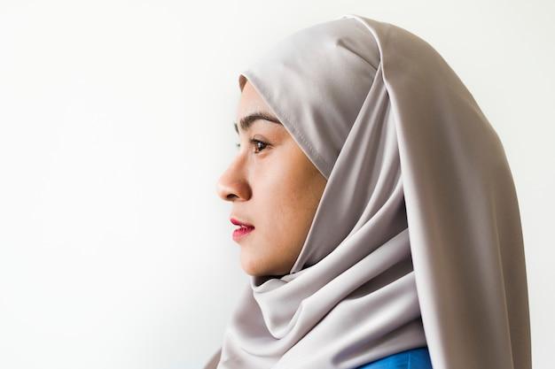 Retrato de una mujer musulmana