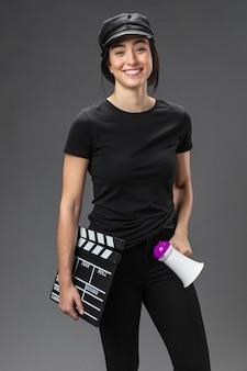 Retrato mujer productora de cine