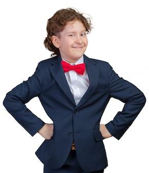 Retrato de un niño empresario
