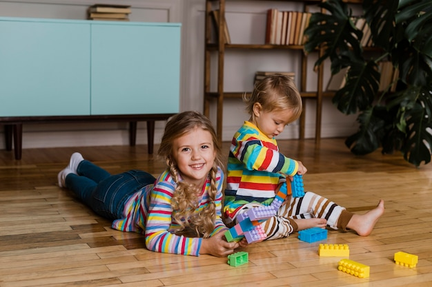 Retrato, niños, juego
