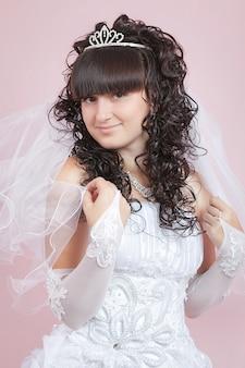 Retrato de una novia feliz