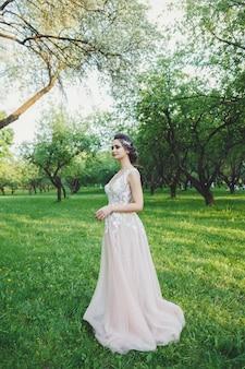 Retrato de novia en el parque