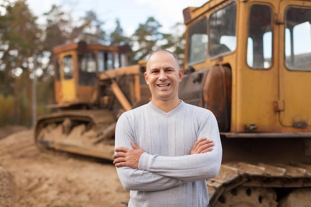 Retrato del operador del tractor