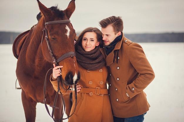 Retrato de una pareja elegante