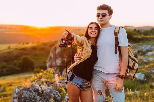 Retrato de una pareja feliz