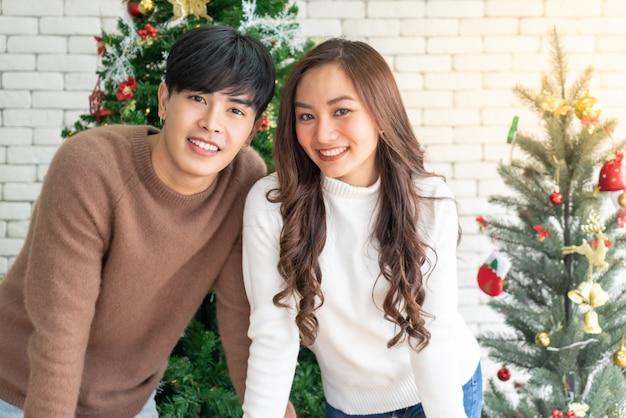 Retrato de pareja navidad