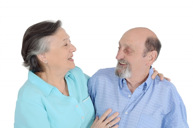 Retrato de pareja senior feliz