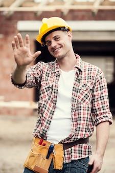 Retrato de trabajador de la construcción