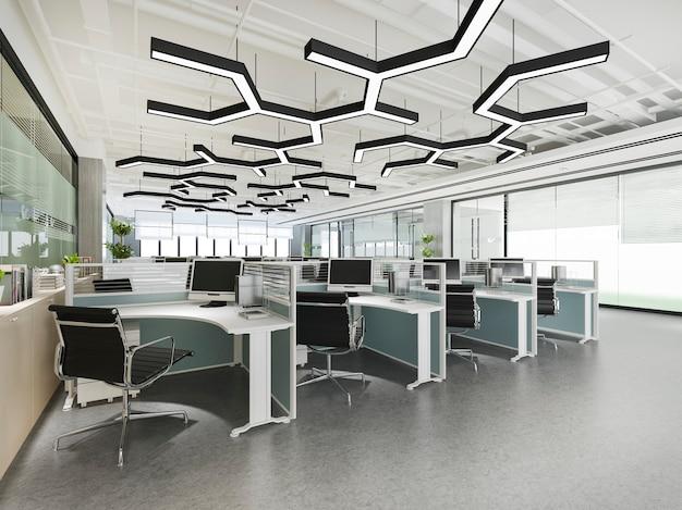 Reunión de negocios y sala de trabajo en edificio de oficinas
