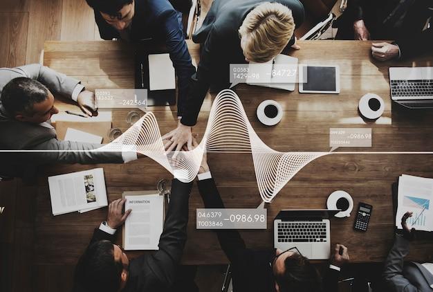 Reunión de trabajo del equipo de negocios concepto de lluvia de ideas