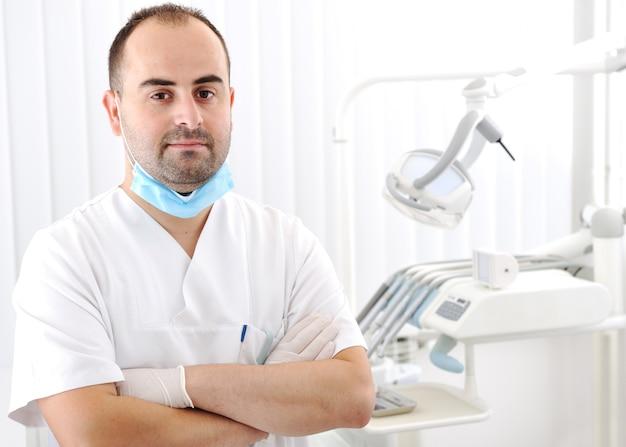 Revisión de dientes del dentista, serie de fotos relacionadas