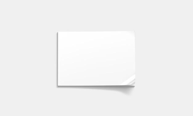 Revista cerrada blanca en blanco, vista superior a5